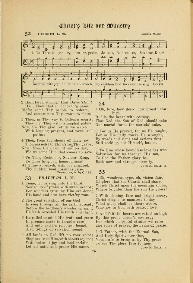 Hymns, Psalms and Gospel Songs: with responsive readings page 25