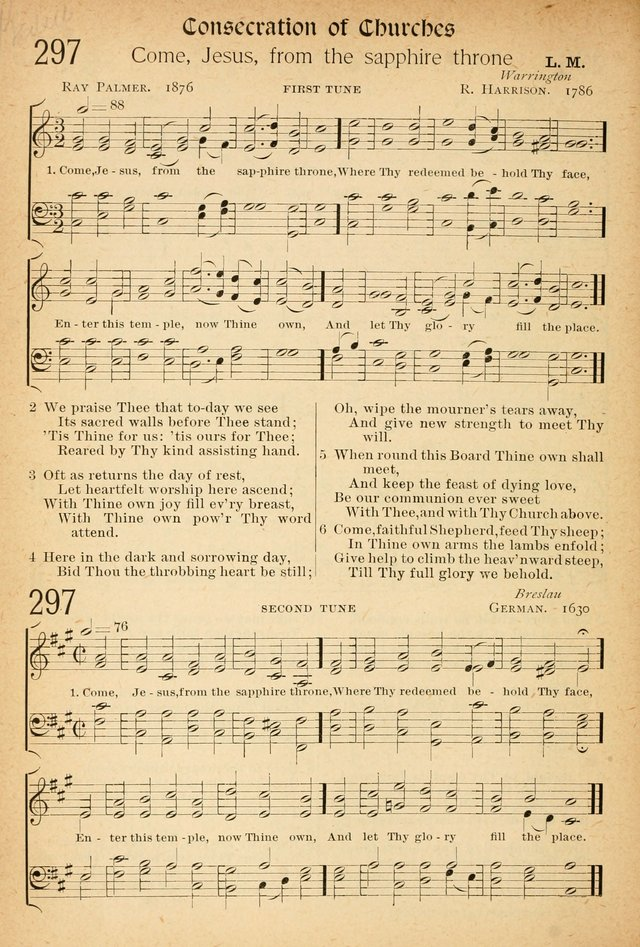The Hymnal: revised and enlarged as adopted by the General Convention of the Protestant Episcopal Church in the United States of America in the of our Lord 1892..with music, as used in Trinity Church page 338
