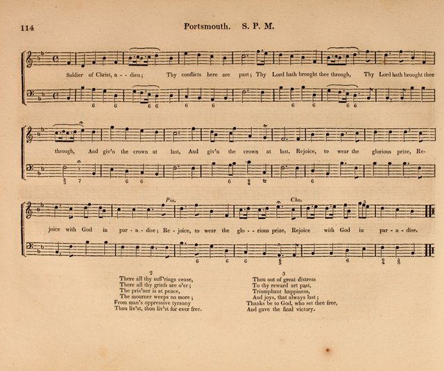 Harmonia Sacra: a Compilation of Psalm and Hymn Tunes [from the most celebrated European masters] page 114