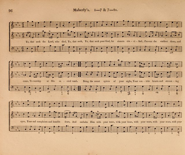 Harmonia Sacra: a Compilation of Psalm and Hymn Tunes [from the most celebrated European masters] page 96