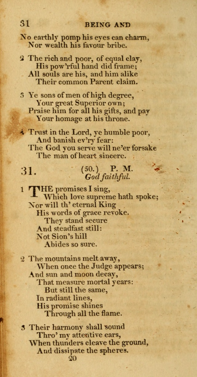 Hymns, Selected and Original: for public and private worship (1st ed.) page 20