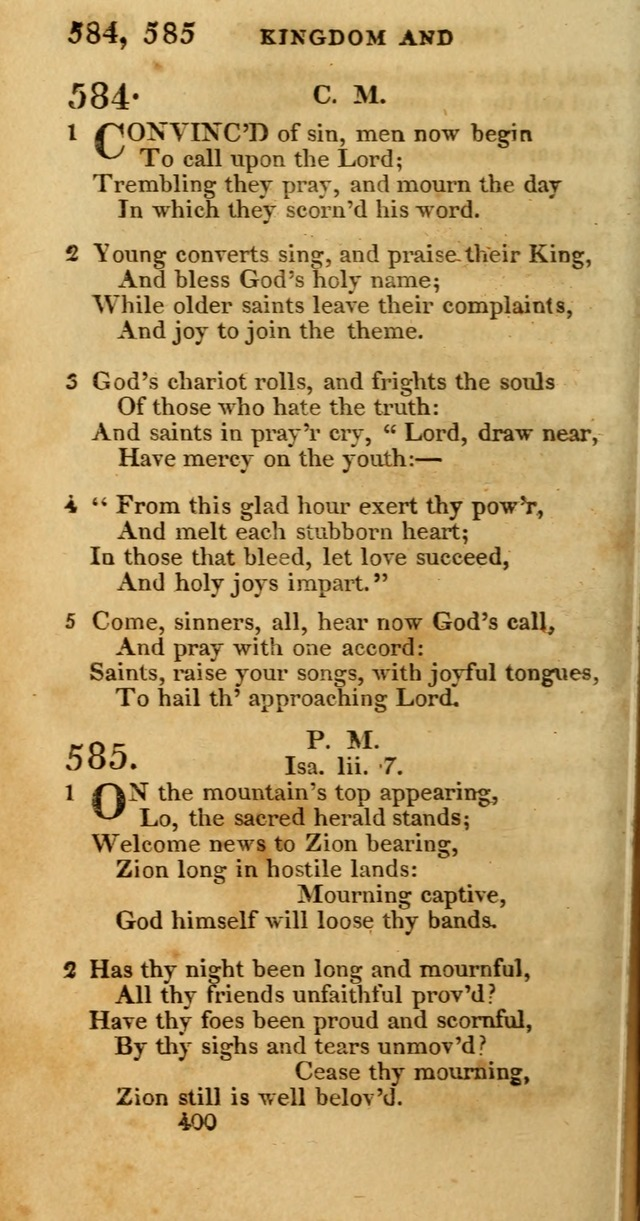 Hymns, Selected and Original: for public and private worship (1st ed.) page 400