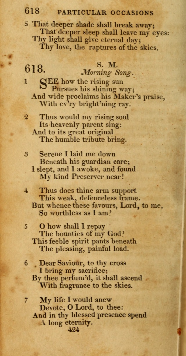 Hymns, Selected and Original: for public and private worship (1st ed.) page 424