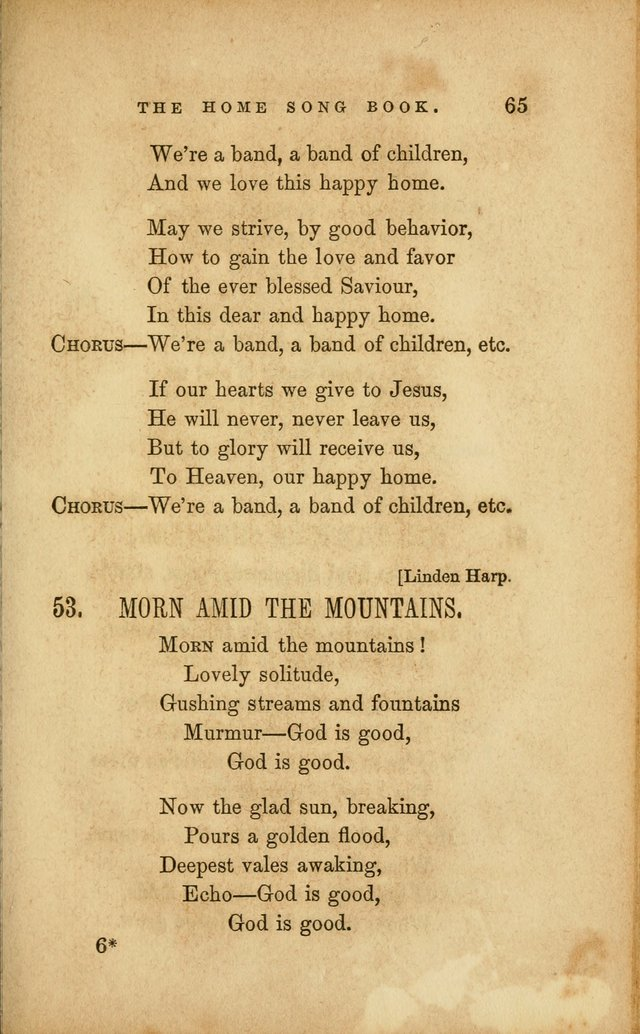 Home Song Book, prepared for the use of the Children of the Home for the Friendless page 53