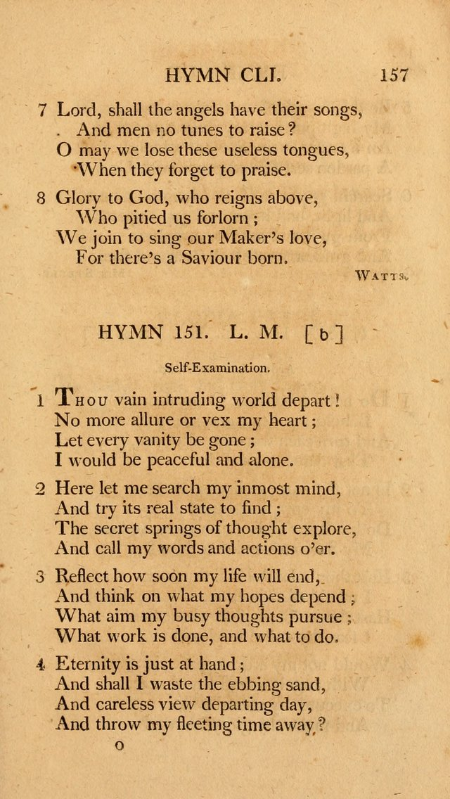 Hymns, Selected from the Most Approved Authors, for the use of Trinity Church, Boston page 158