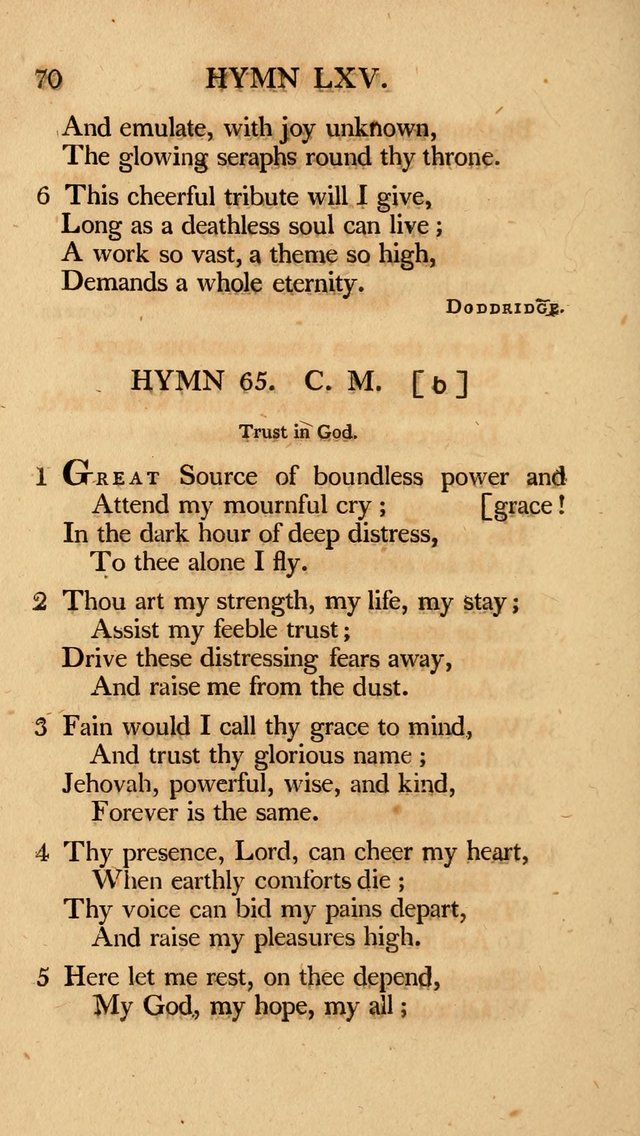 Hymns, Selected from the Most Approved Authors, for the use of Trinity Church, Boston page 71