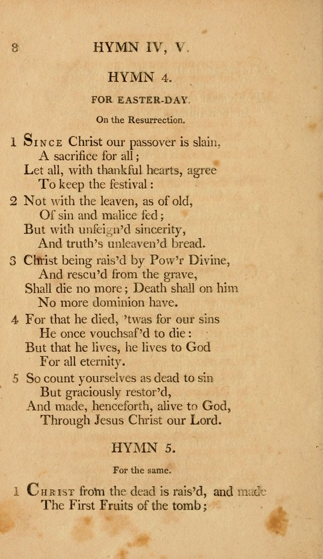 Hymns, Selected from the Most Approved Authors, for the use of Trinity Church, Boston page 9