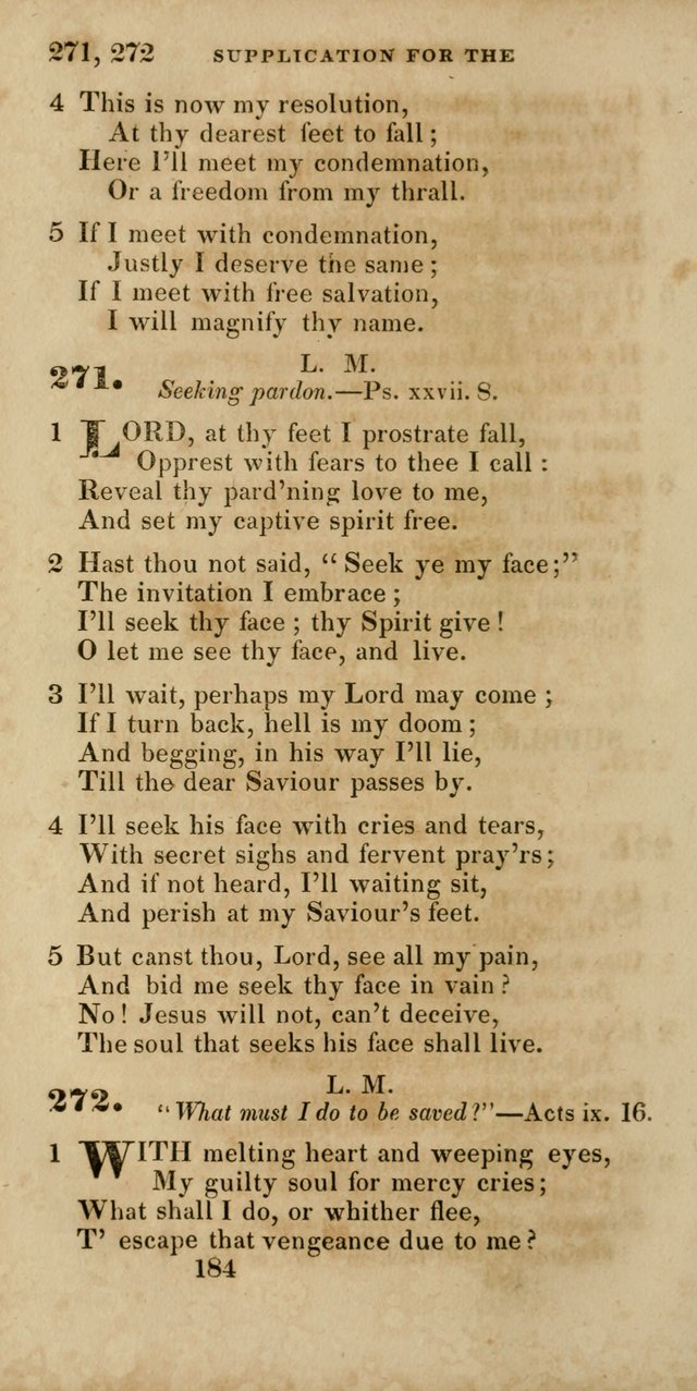 Hymns, Selected and Original, for Public and Private Worship page 184