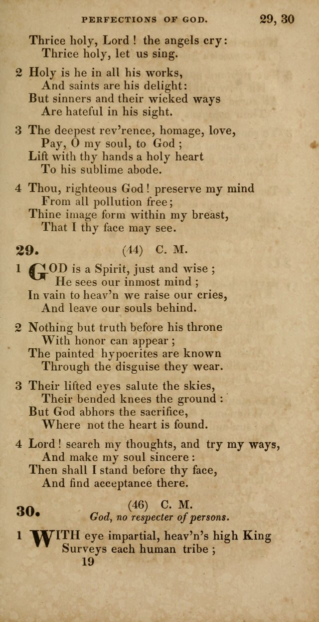 Hymns, Selected and Original, for Public and Private Worship page 19
