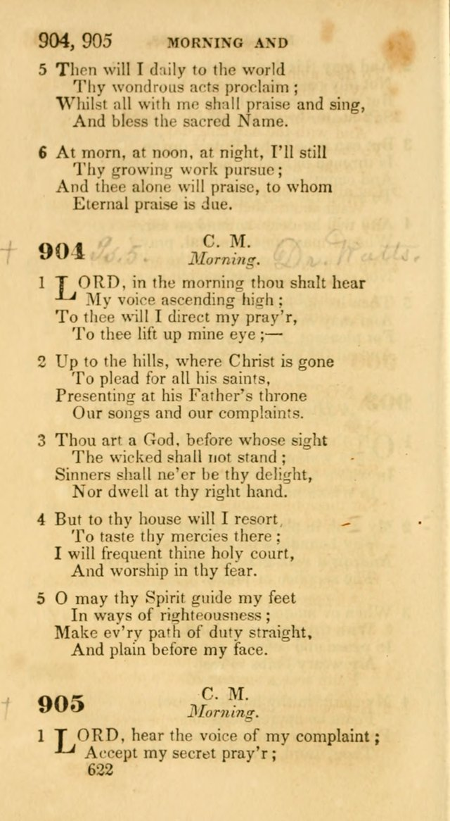 Hymns: selected and original, for public and private worship (30th ed.) page 622