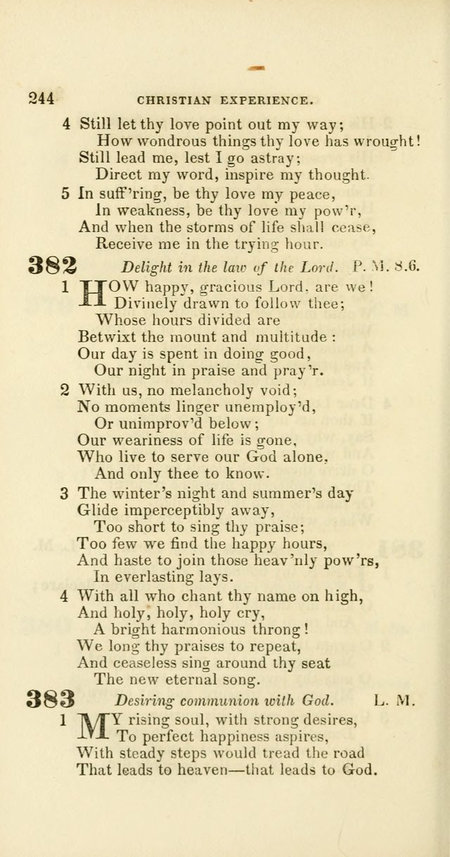 Hymns: selected and original, for public and private worship (60th ed., 1st rev. ed.) page 244