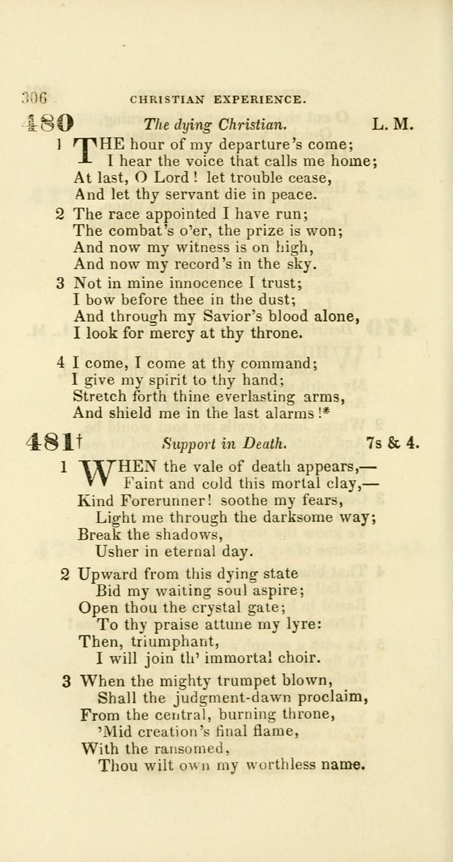 Hymns: selected and original, for public and private worship (60th ed., 1st rev. ed.) page 306
