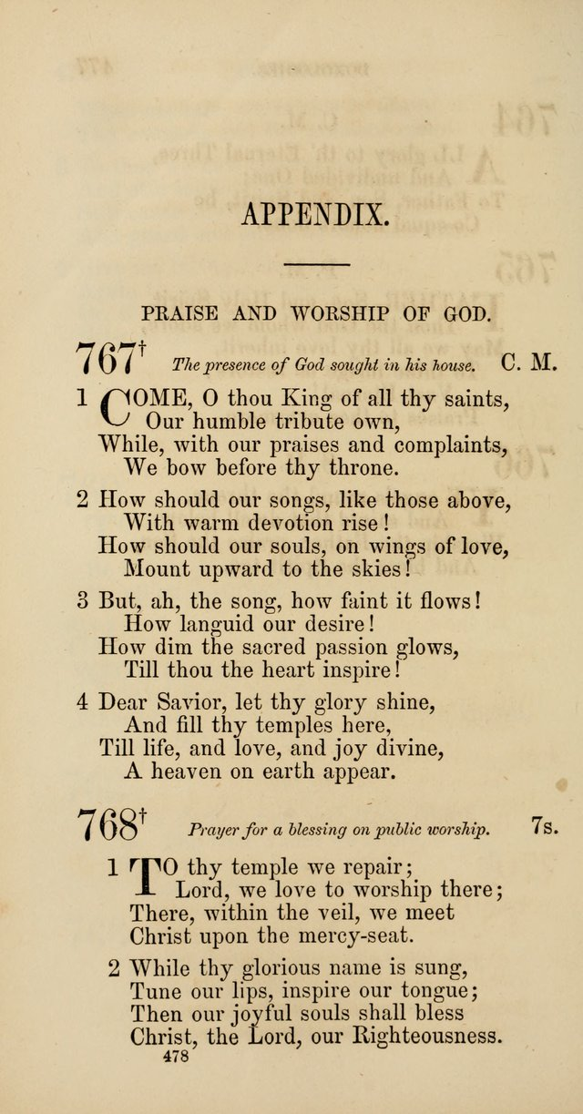 Hymns: selected and original, for public and  private worship (4th ed. 3rd rev. ed.) page 504