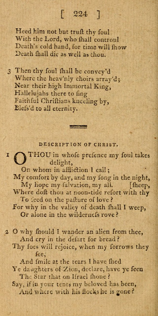 Hymns and Spiritual Songs for the use of Christians 224. O thou in ...