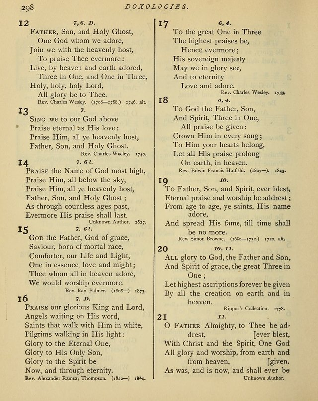 Hymns and Songs for Social and Sabbath Worship. (Rev. ed.)                 page 298
