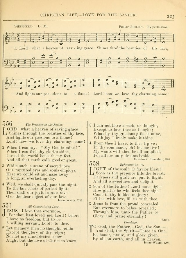 Hymns for the Sanctuary and Social Worship: with tunes page 225