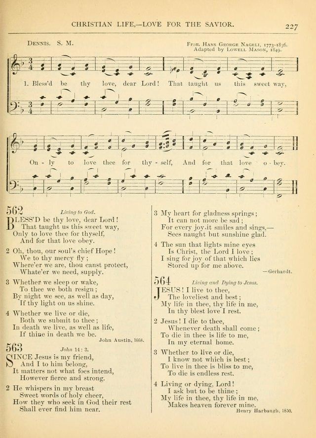 Hymns for the Sanctuary and Social Worship: with tunes page 227