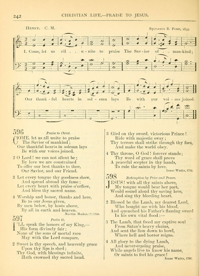 Hymns for the Sanctuary and Social Worship: with tunes page 242