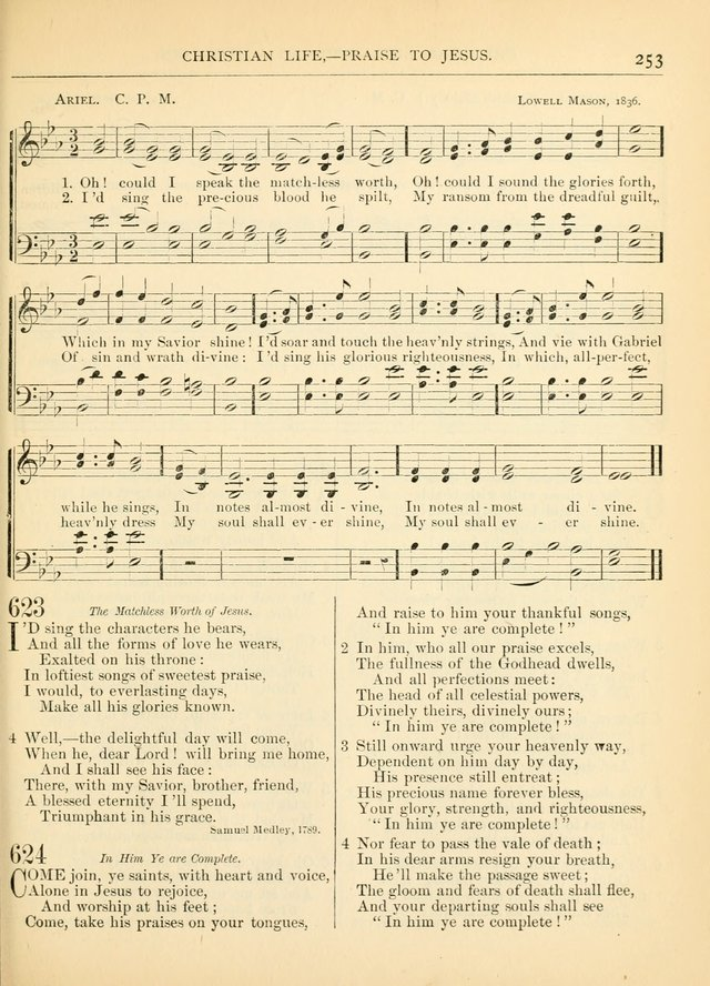Hymns for the Sanctuary and Social Worship: with tunes page 253