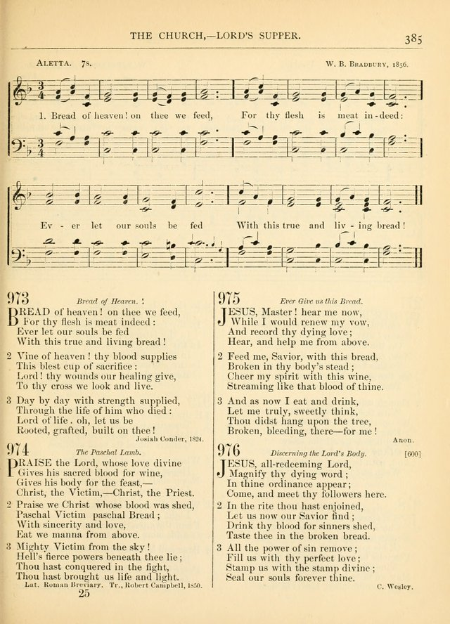 Hymns for the Sanctuary and Social Worship: with tunes page 389
