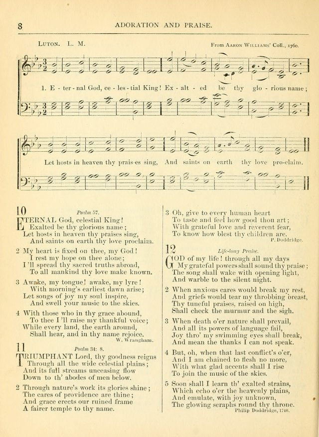 Hymns for the Sanctuary and Social Worship: with tunes page 8