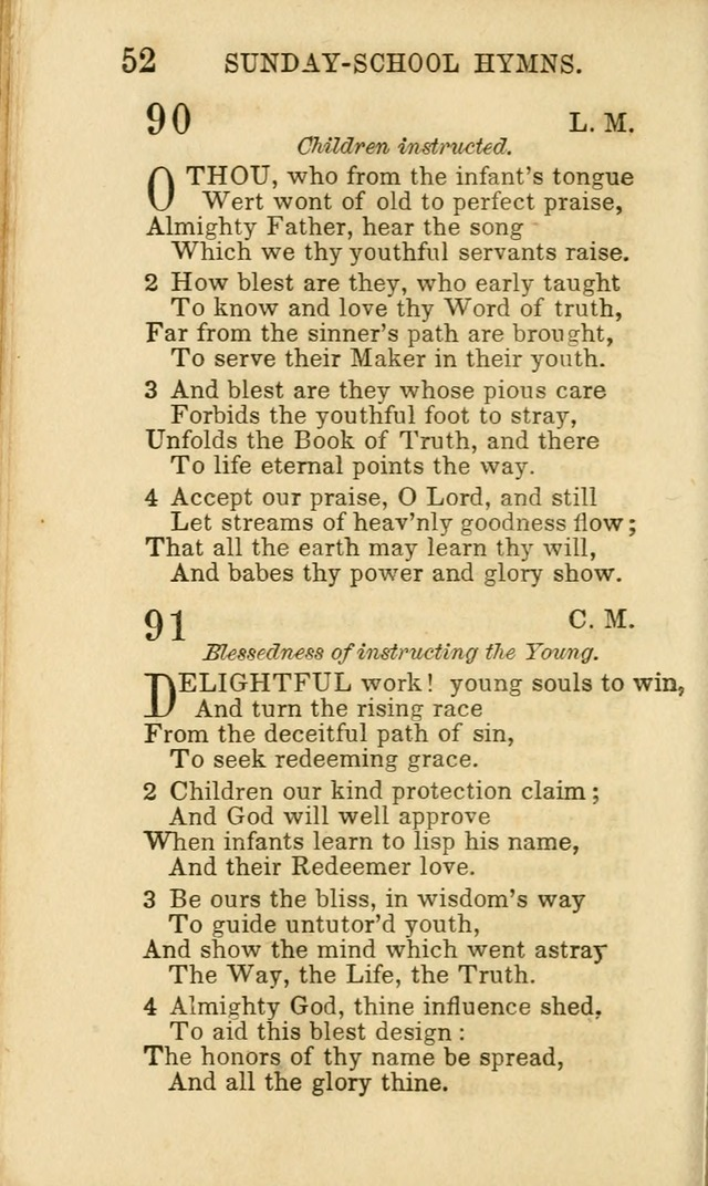 Hymns for Sunday Schools, Youth and Children page 52