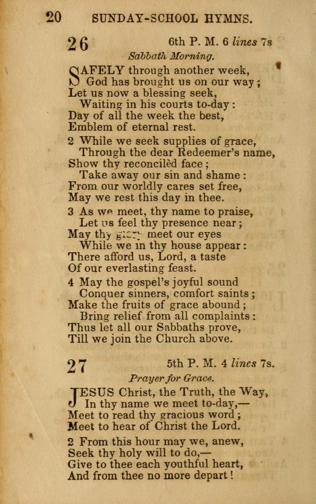 Hymns for Sunday Schools, Youth, and Children page 20