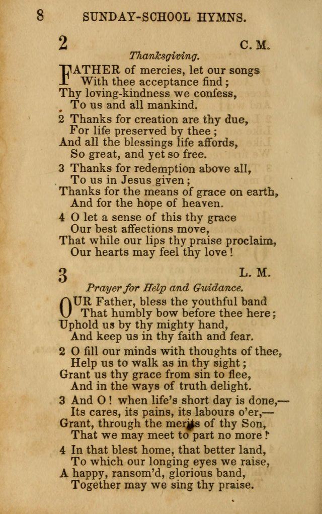 Hymns for Sunday Schools, Youth, and Children page 8