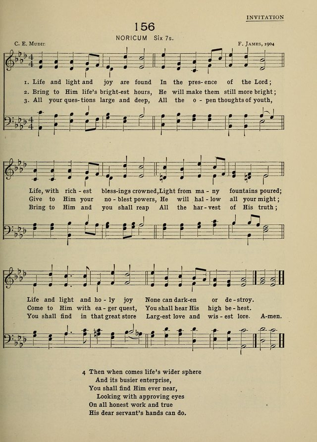 Hymns and Tunes for Schools page 155