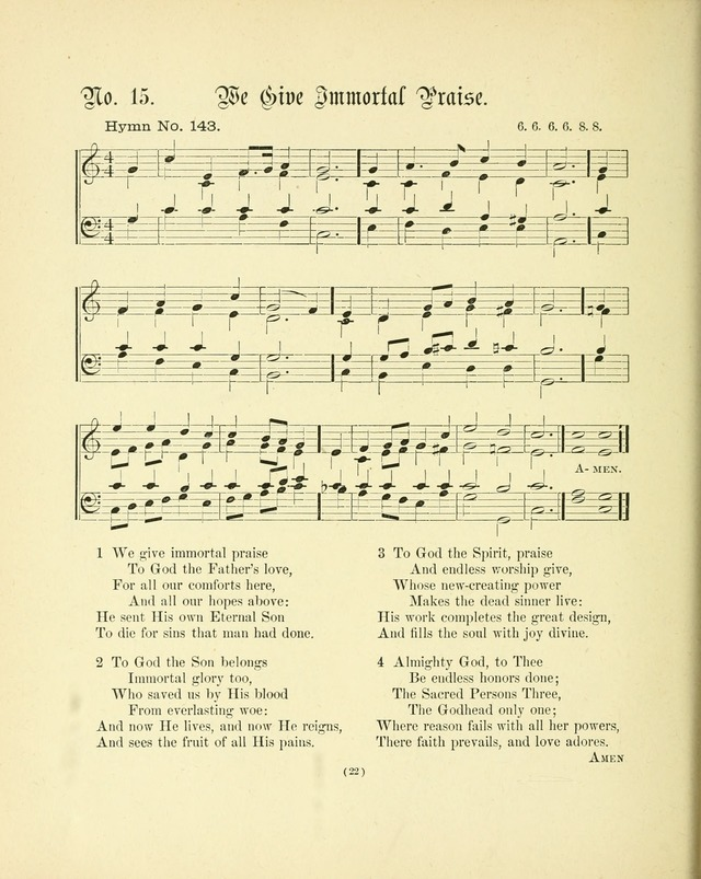 Hymn tunes: being further contributions to the hymnody of the church page 25