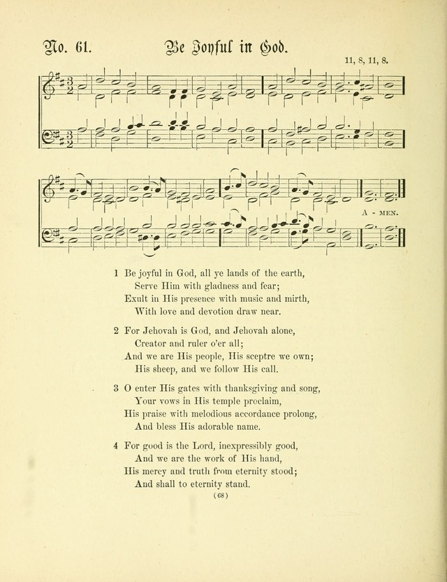 Hymn tunes: being further contributions to the hymnody of the church page 71