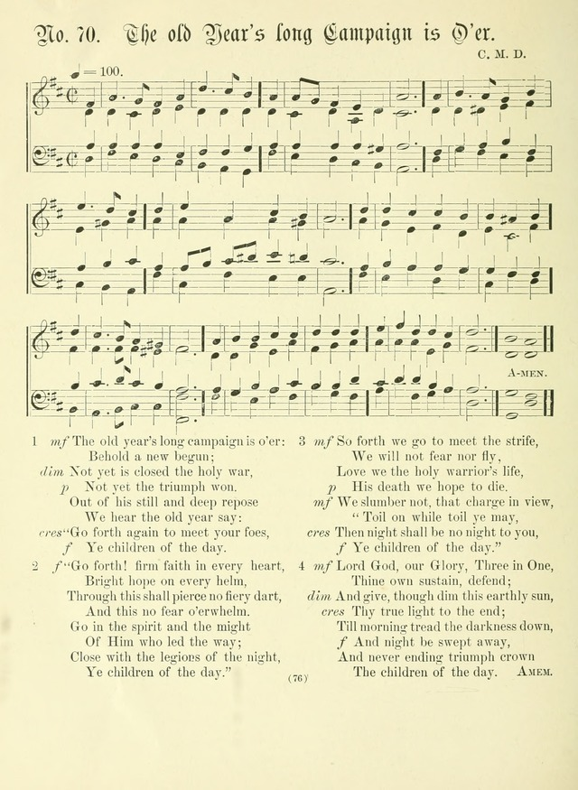 Hymn tunes: being further contributions to the hymnody of the church page 76