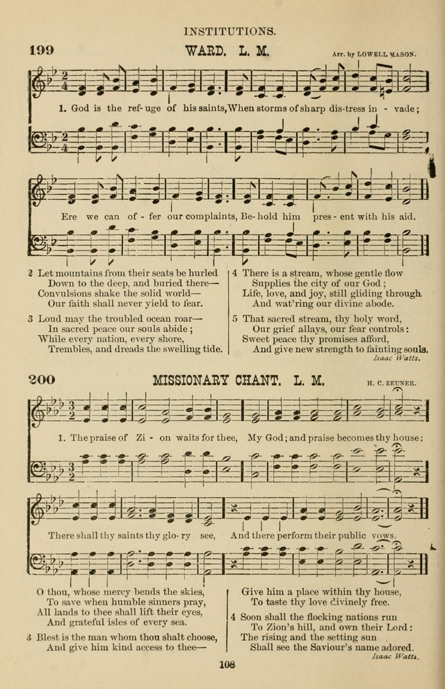 Hymn and Tune Book of the Methodist Episcopal Church, South (Round Note Ed.) page 108