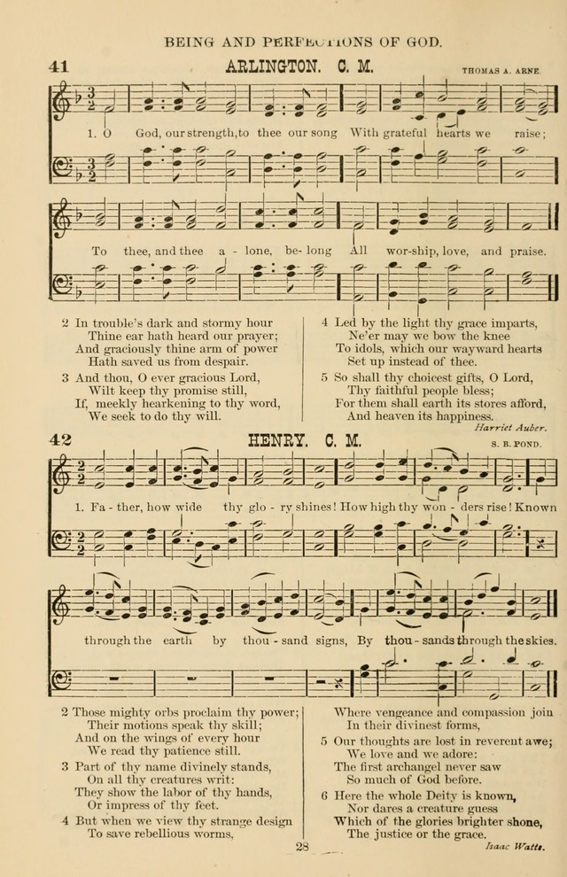 Hymn and Tune Book of the Methodist Episcopal Church, South (Round Note Ed.) page 28