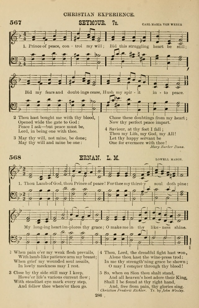 Hymn and Tune Book of the Methodist Episcopal Church, South (Round Note Ed.) page 286
