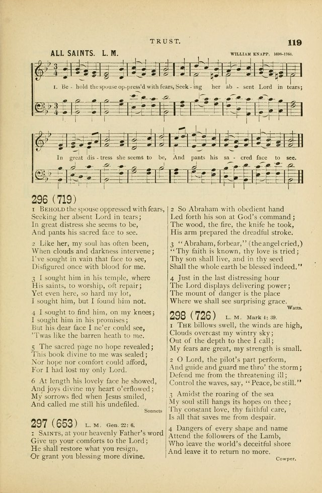 Hymn and Tune Book for Use in Old School or Primitive Baptist Churches page 119