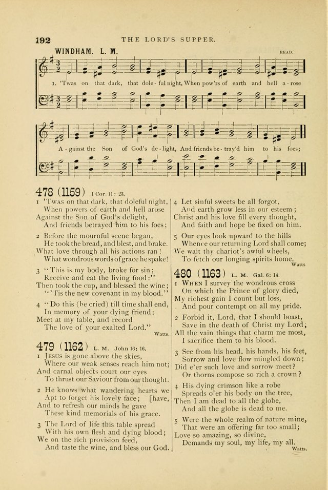 Hymn and Tune Book for Use in Old School or Primitive Baptist Churches page 192