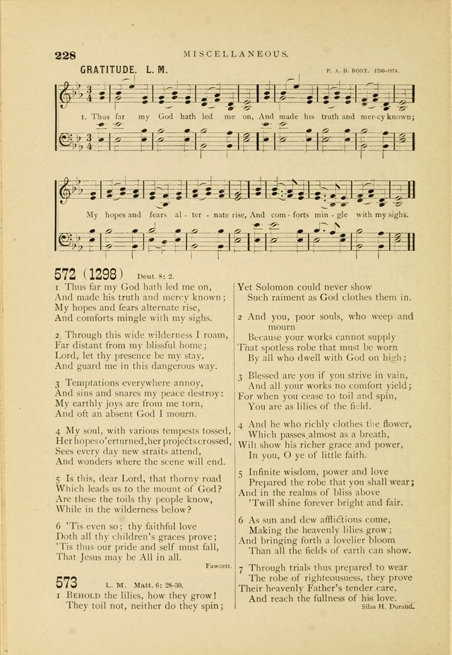 Hymn and Tune Book for Use in Old School or Primitive Baptist Churches page 228