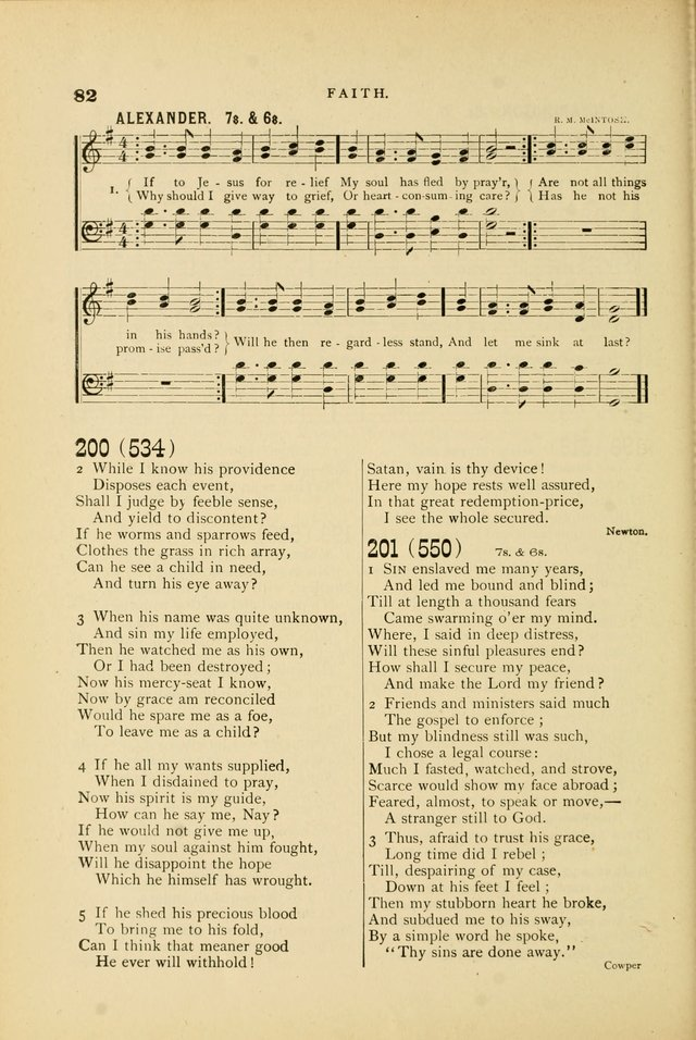 Hymn and Tune Book for Use in Old School or Primitive Baptist Churches page 82