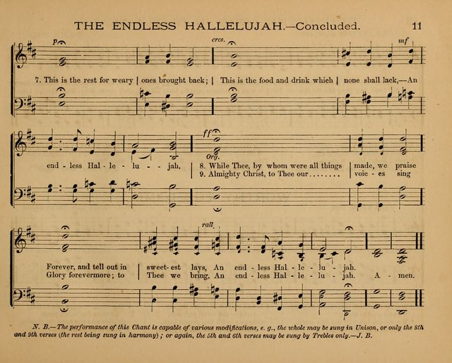 The Hymnary with Tunes: a collection of music for Sunday schools page 11