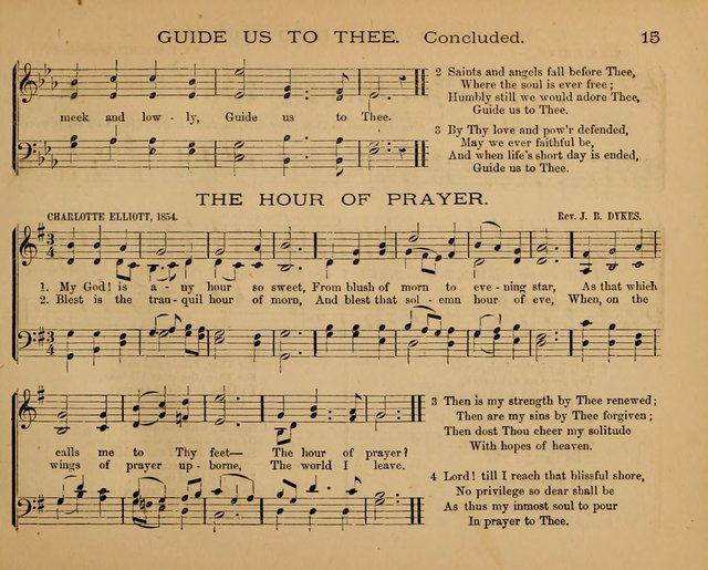 The Hymnary with Tunes: a collection of music for Sunday schools page 15