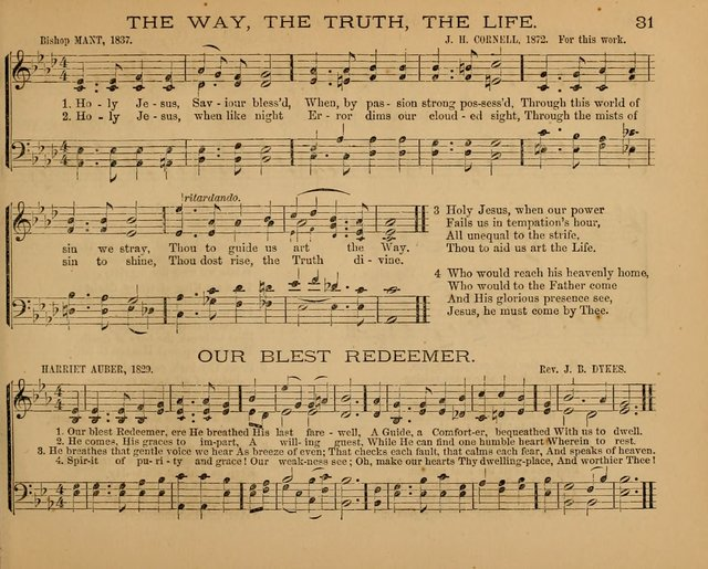 The Hymnary with Tunes: a collection of music for Sunday schools page 31