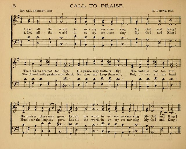 The Hymnary with Tunes: a collection of music for Sunday schools page 6
