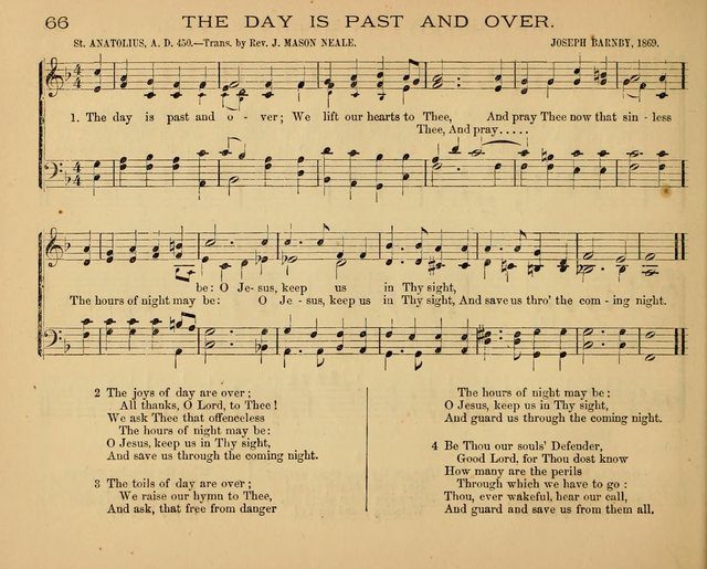 The Hymnary with Tunes: a collection of music for Sunday schools page 66