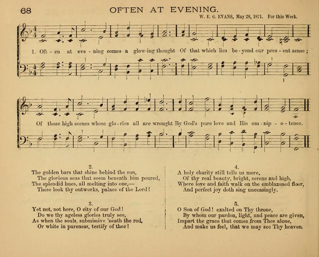 The Hymnary with Tunes: a collection of music for Sunday schools page 68