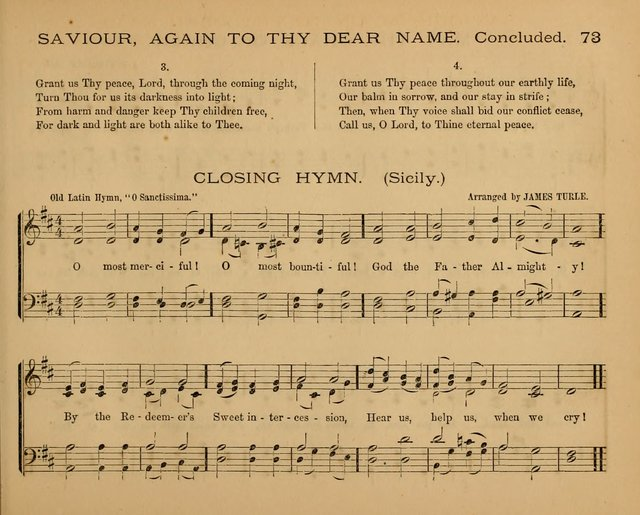 The Hymnary with Tunes: a collection of music for Sunday schools page 73
