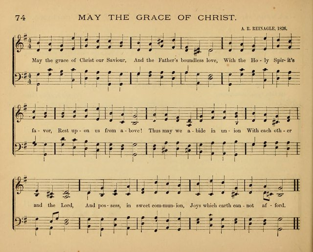 The Hymnary with Tunes: a collection of music for Sunday schools page 74