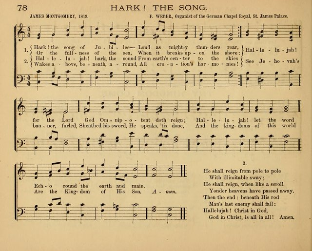 The Hymnary with Tunes: a collection of music for Sunday schools page 78