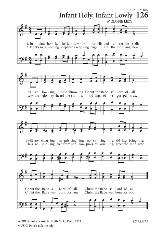 Lyric go tell it on the mountain hymn lyrics : Infant Holy, Infant Lowly | Hymnary.org