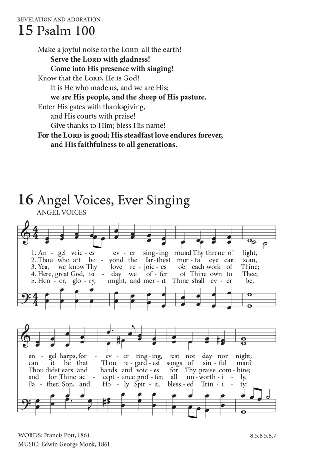 Angel voices, ever singing | Hymnary.org